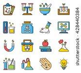 icon set science vector | Shutterstock .eps vector #428440384