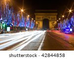 night view of the champs... | Shutterstock . vector #42844858