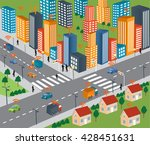 smart city concept and wireless ... | Shutterstock .eps vector #428451631
