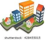 colorful cityscape scene....   Shutterstock .eps vector #428455015