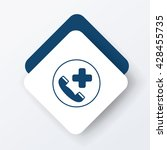 emergency call icon | Shutterstock .eps vector #428455735