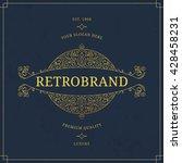 vector calligraphic logo... | Shutterstock .eps vector #428458231