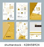 set invitation with geometric...