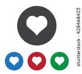 heart icon jpg | Shutterstock .eps vector #428468425