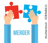 merger concept. two... | Shutterstock .eps vector #428468611