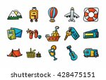 travel and tourism icons set... | Shutterstock .eps vector #428475151