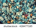 Natural abstract vintage colorful pebbles background