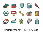 pets icons set eps10 | Shutterstock .eps vector #428477935