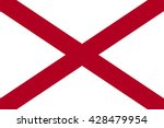 Alabama state flag, official colors and proportion correctly. National Alabama flag. Vector illustration. EPS10.