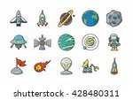 space and astrology icons set... | Shutterstock .eps vector #428480311