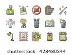camera and photo icons set eps10 | Shutterstock .eps vector #428480344