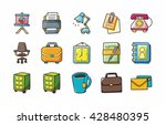 business and office icons set... | Shutterstock .eps vector #428480395