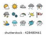 weather icons set eps10 | Shutterstock .eps vector #428480461