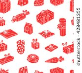 seamless pattern with gift... | Shutterstock .eps vector #428481355