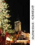 Czech republic - metropolises Prague - Staromestske square with christmas tree