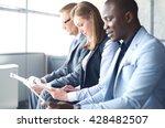 smiling businesswoman looking... | Shutterstock . vector #428482507