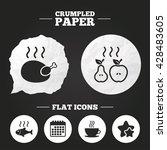 crumpled paper speech bubble....   Shutterstock .eps vector #428483605