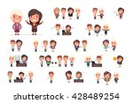 business people vector set | Shutterstock .eps vector #428489254
