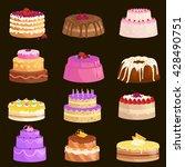 illustration of sweet baked... | Shutterstock .eps vector #428490751