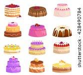 illustration of sweet baked... | Shutterstock .eps vector #428490784