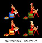 beautiful snow maidens and... | Shutterstock .eps vector #42849109