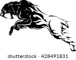 sabertooth flame tattoo | Shutterstock .eps vector #428491831