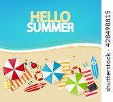 top view of beach. vector... | Shutterstock .eps vector #428498815