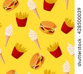 fast food. seamless vector... | Shutterstock .eps vector #428500039