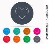 love heart icon. life sign.... | Shutterstock .eps vector #428502505