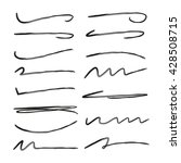 collection of hand drawn lines  ... | Shutterstock .eps vector #428508715
