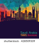saudi arabia  detailed... | Shutterstock .eps vector #428509339