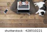 Woman Behind Laptop Computer...