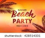 beach party poster template... | Shutterstock .eps vector #428514331