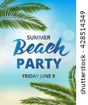 beach party poster template... | Shutterstock .eps vector #428514349
