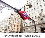 metro station sign in madrid... | Shutterstock . vector #428516419