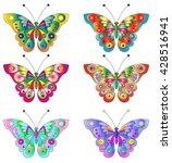 butterflies. cute butterflies... | Shutterstock .eps vector #428516941