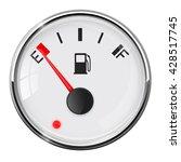 fuel gauge. empty. with chrome... | Shutterstock . vector #428517745