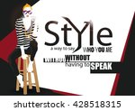 fashion quote with fashion... | Shutterstock .eps vector #428518315