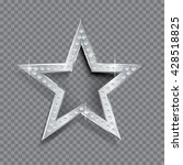 transparent silver star with... | Shutterstock .eps vector #428518825
