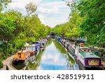 regent's canal  little venice... | Shutterstock . vector #428519911