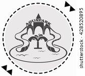aquapark icon flat design....