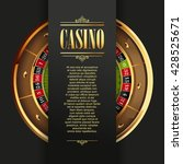 casino logo poster background... | Shutterstock .eps vector #428525671