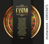 casino logo poster background... | Shutterstock .eps vector #428525671