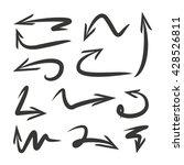 hand drawn arrows set | Shutterstock .eps vector #428526811