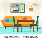 living and dining room with... | Shutterstock .eps vector #428530735
