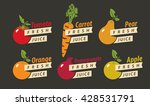 set of drawings fruits with the ... | Shutterstock .eps vector #428531791