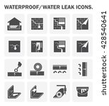 waterproofing and water leaked... | Shutterstock .eps vector #428540641