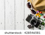 summer holiday background ... | Shutterstock . vector #428546581