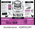 menu placemat food restaurant... | Shutterstock .eps vector #428551249