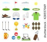 golf icon set.  sports uniform  ... | Shutterstock .eps vector #428557069